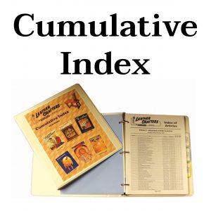 Cumulative Index